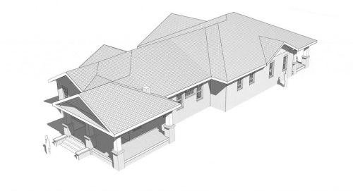 D-16-074_3317 Duncan_CD-Sheet - SK-006 - ROOF VIEW - PLAN SOUTH-EAST ANGLE