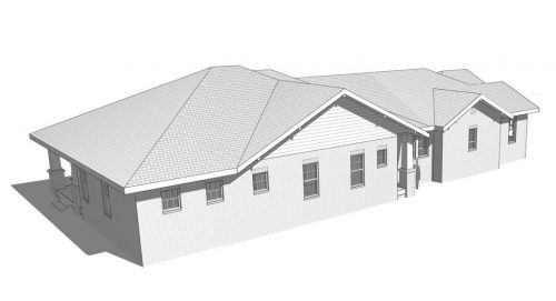 D-16-074_3317 Duncan_CD-Sheet - SK-007 - ROOF VIEW - PLAN NORTH-WEST ANGLE